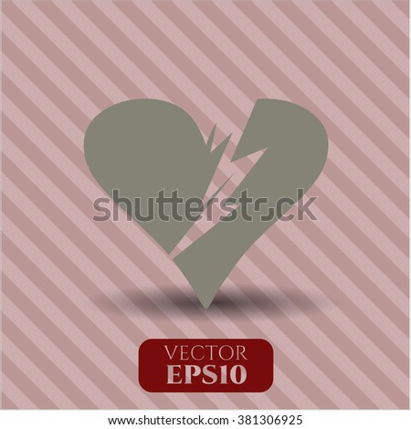 Broken heart vector symbol
