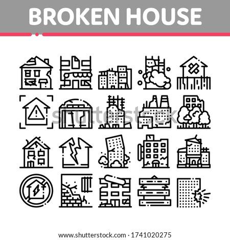 broken house building