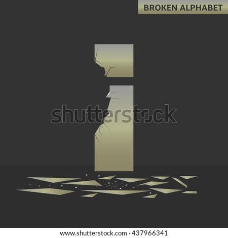 broken i letter mirror