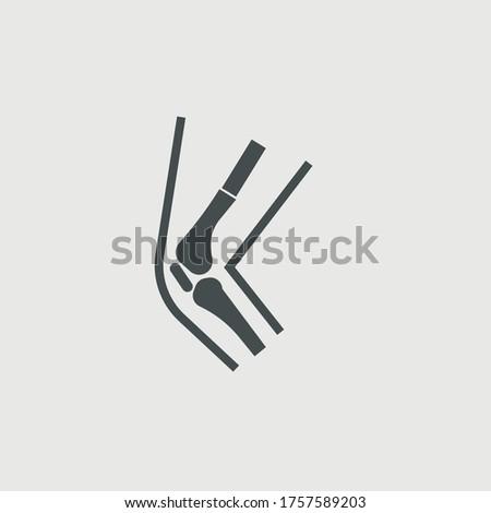 Broken leg vector icon illustration sign ストックフォト ©