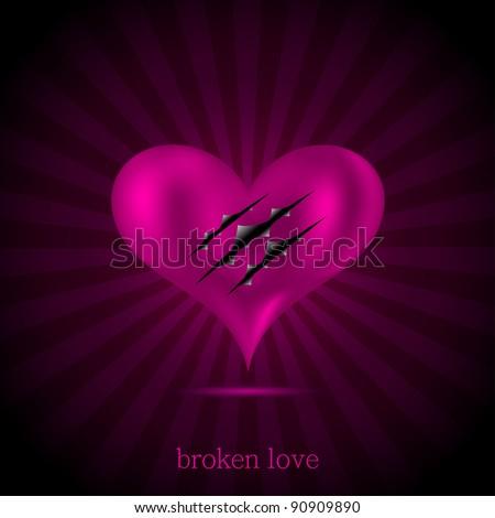 broken love background vector