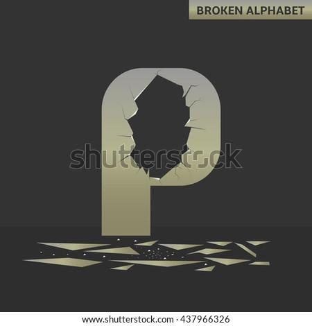 broken p letter mirror