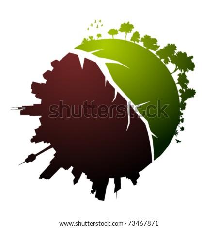 broken planet illustration