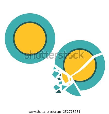 broken plate vector