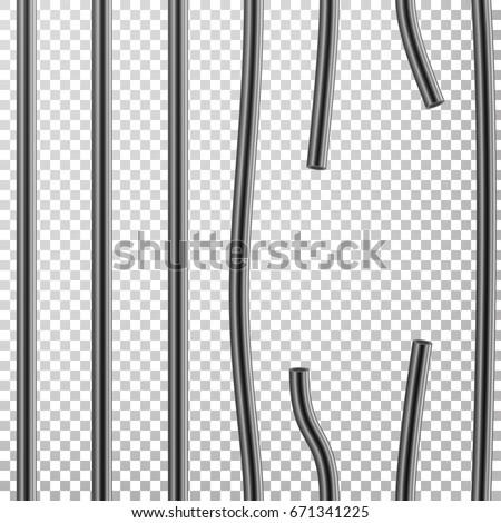 broken prison bars vector way