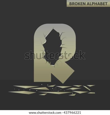 broken r letter mirror