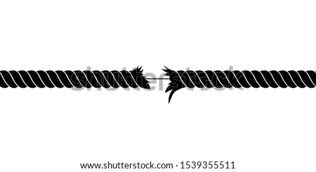 Broken rope vector design illustration isolated on white background Foto d'archivio ©