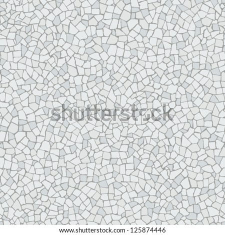 Broken tiles mosaic (trencadis) white pattern