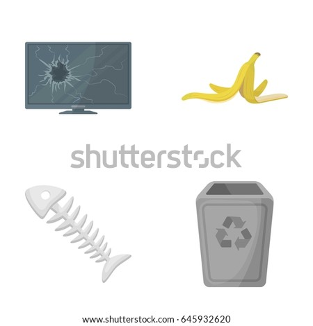 broken tv monitor  banana peel
