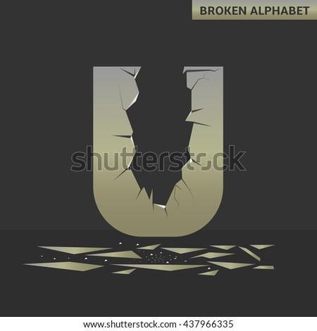 broken u letter mirror