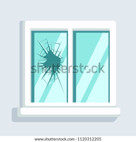 broken window icon isolated