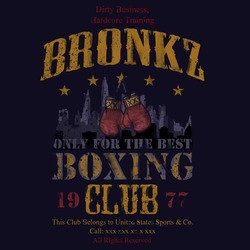 bronkz boxing club tee graphic