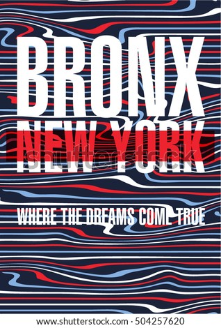 bronx  new york city poster