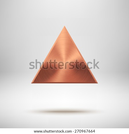 bronze abstract triangle badge