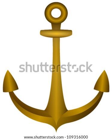 bronze anchor