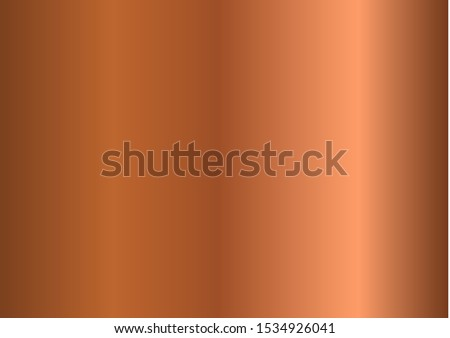 Bronze Copper Metal foil abstract background with modern vector gradient style, Vector Illustration eps 10 Foto d'archivio ©