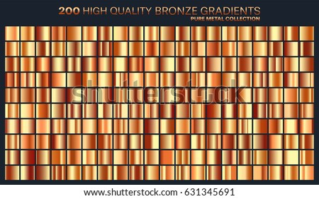 Bronze gradient,pattern,template.Set of colors for design,collection of high quality gradients.Metallic texture,shiny background.Pure metal.Suitable for text ,mockup,banner, ribbon or ornament.