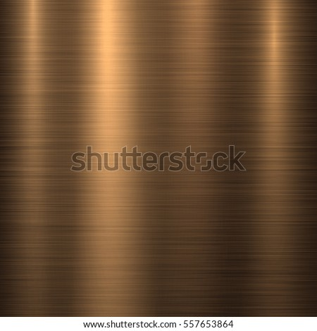 Bronze metal technology background with polished, brushed metal texture, chrome, silver, steel, aluminum, copper for design concepts, web, prints, posters, wallpapers, interfaces. Vector illustration.