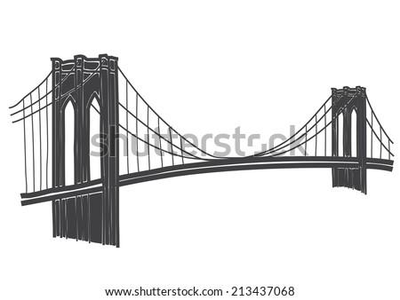 brooklyn bridge drawing