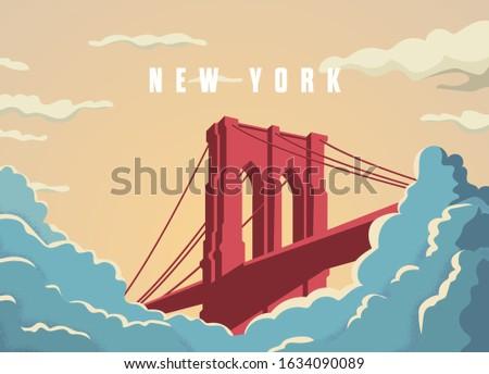 brooklyn bridge in new york in