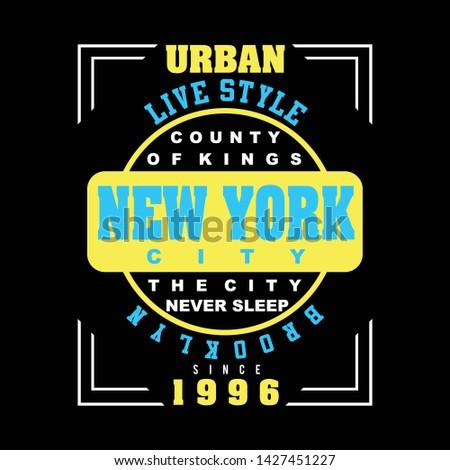 brooklyn new york city design typography , vector typography, vector illustration