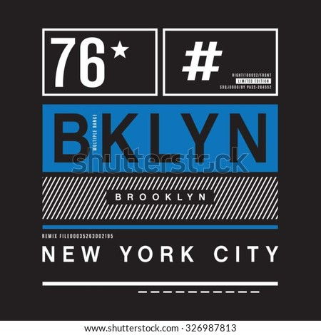 brooklyn remix typography  t