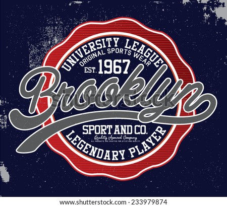 brooklyn sports tee graphic