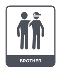 brother icon vector on white background, brother trendy filled icons from Family relations collection, brother simple element illustration