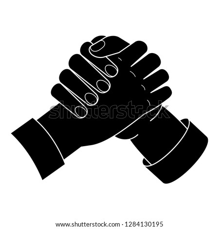 Brotherhood handshake icon. Simple illustration of brotherhood handshake vector icon for web design isolated on white background