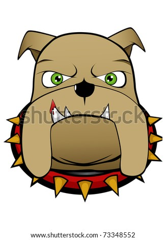 Brown Angry Bulldog Stock Vector 73348552 : Shutterstock