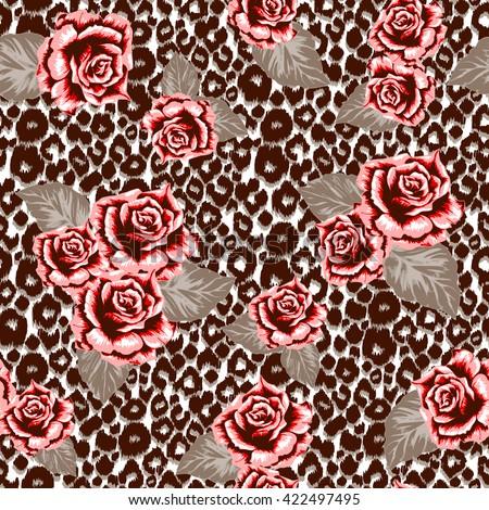 brown animal pattern seamless