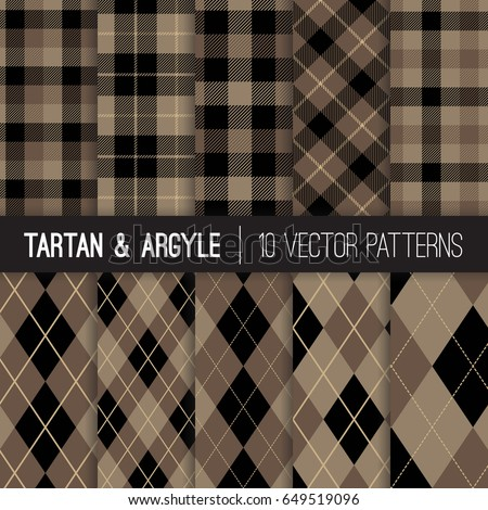 brown argyle  tartan and
