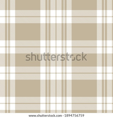 Brown Asymmetric Plaid textured seamless pattern suitable for fashion textiles and graphics Zdjęcia stock ©