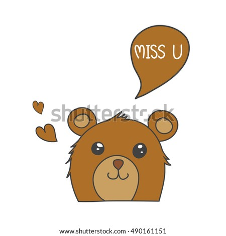 brown bear smile with speech