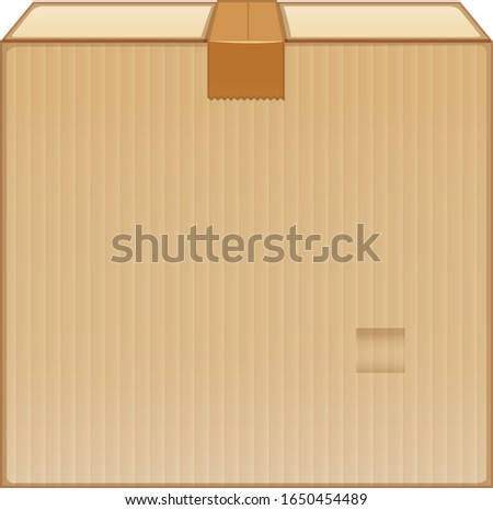 Brown box with brown tape illustration
