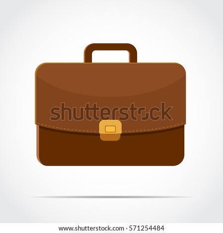 brown briefcase with golden lock