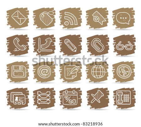 Brown brush series | internet, business , office  icon