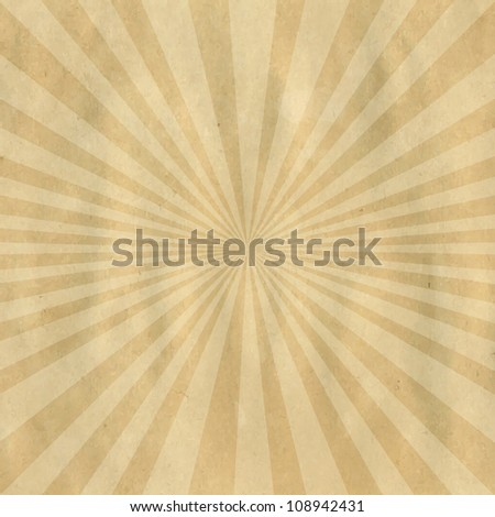 Brown Cardboard Structure With Sunburst, Vector Illustration - stock vector