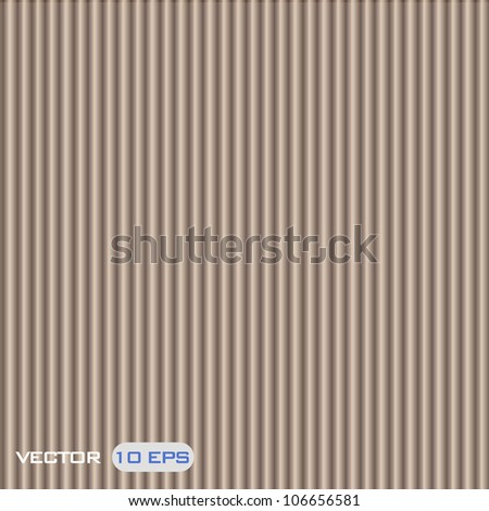 Brown corrugated cardboard texture. Vector design