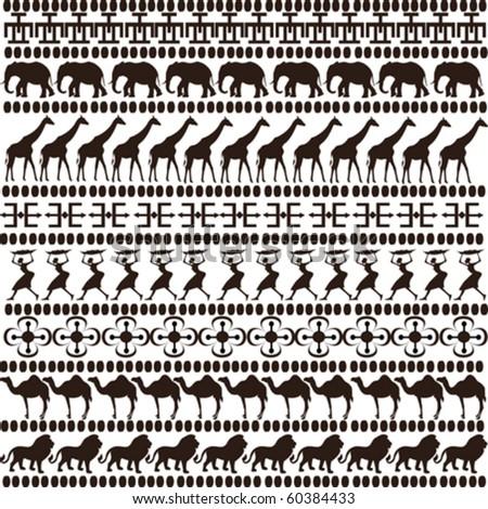 brown ethnic motifs