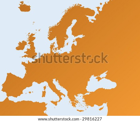 brown geographic map of europe