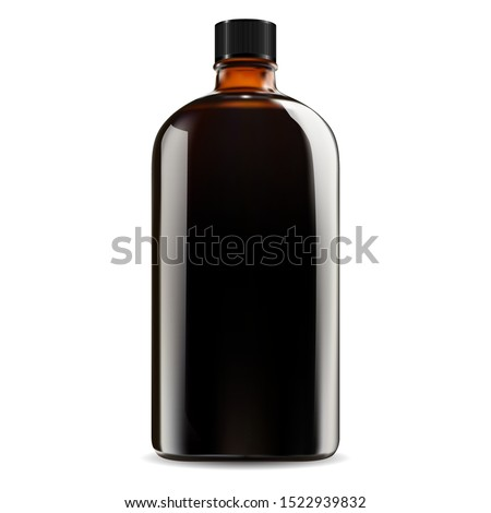 brown glass bottle cosmetic
