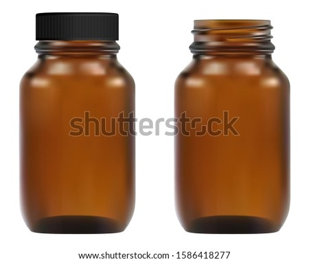 brown glass medical bottle