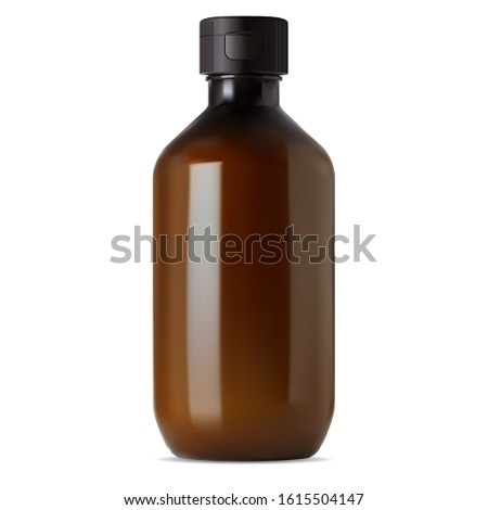 brown glass pharmacy bottle