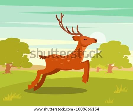 brown graceful deer with