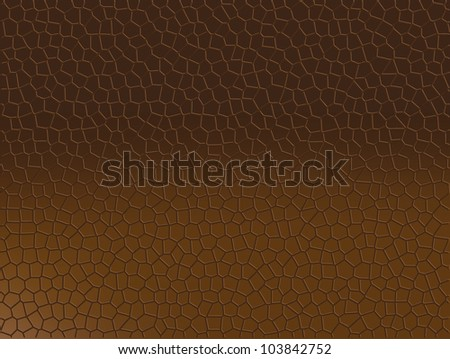 Brown Gradient Snake Skin Like