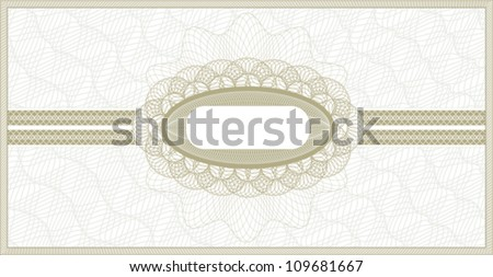 Brown guilloche background for voucher, coupon or banknote