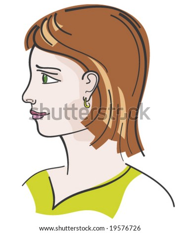 brown hair young girl portrait