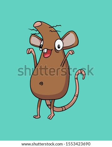 brown happy rat or mouse
