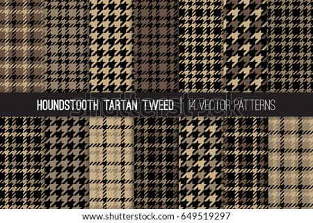 brown houndstooth tartan tweed